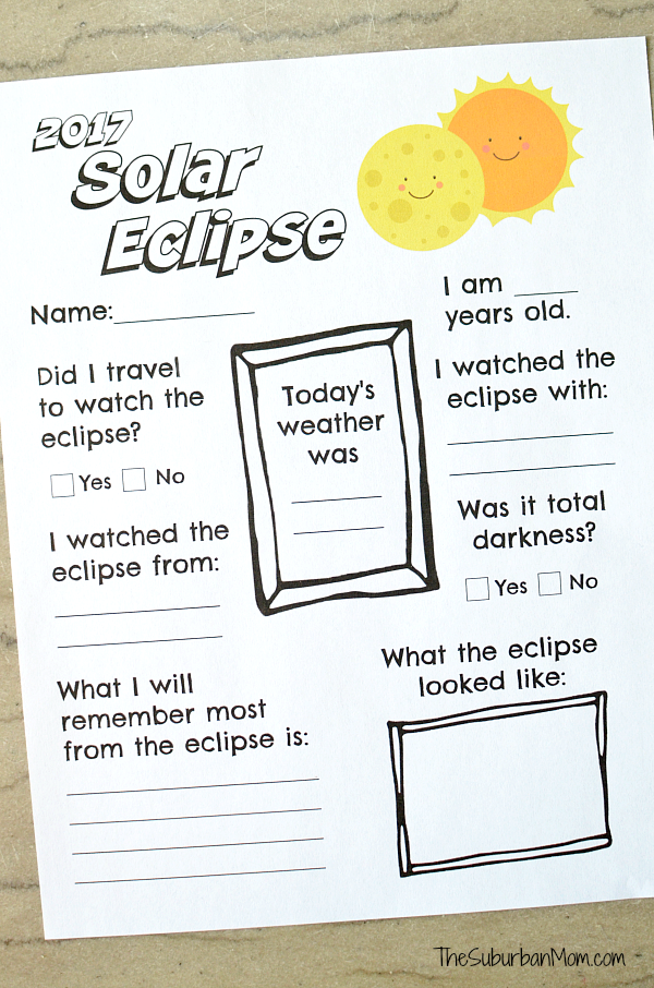 Worksheets For Solar Eclipse solar eclipse worksheets for first – Solar and Lunar Eclipse Worksheet