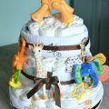 Easy Jungle Diaper Cake Tutorial