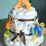 Easy Jungle Diaper Cake Tutorial