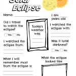 2017 Solar Eclipse Worksheet