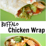 Quick And Easy Buffalo Chicken Wrap