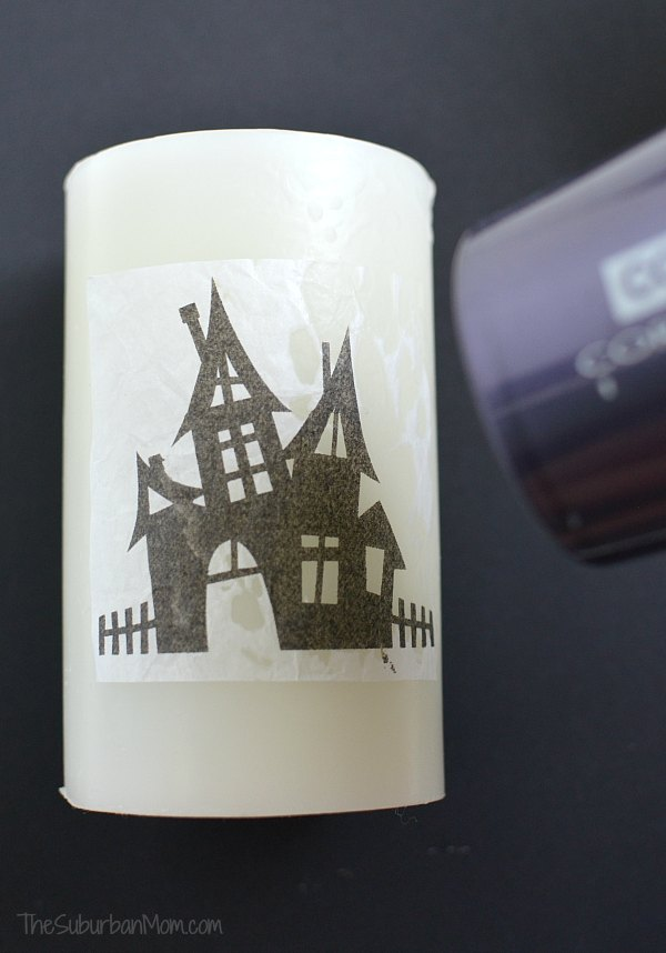 Printed Image on Candle