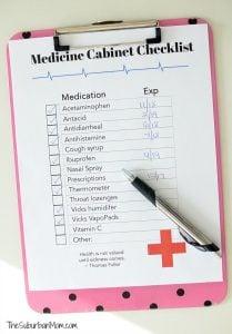 Medicine Cabinet Checklist