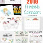 18 Free Printable 2018 Calendars