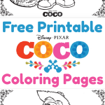 Free Printable Coco Coloring Pages, Activity Pages And Movie Review