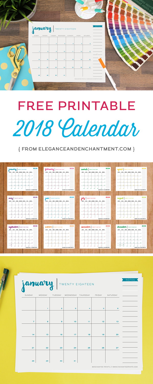 Free-Printable-2018-Calendar-from-Elegance-and-Enchantment