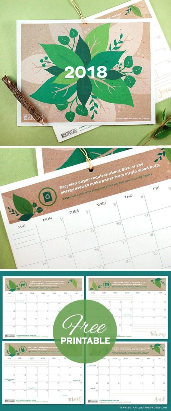 Free-Printable-2018-Eco-Calendar