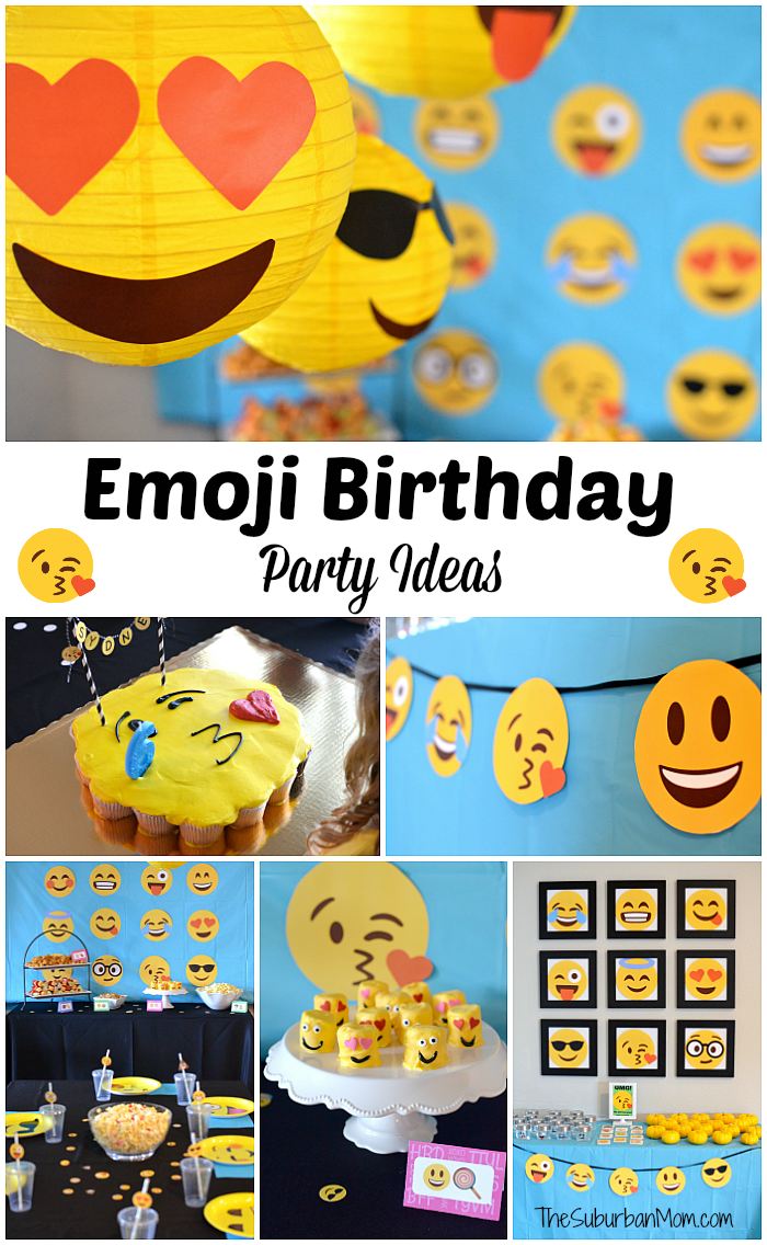 It is a photo of Printable Emoji Invitations for high resolution printable