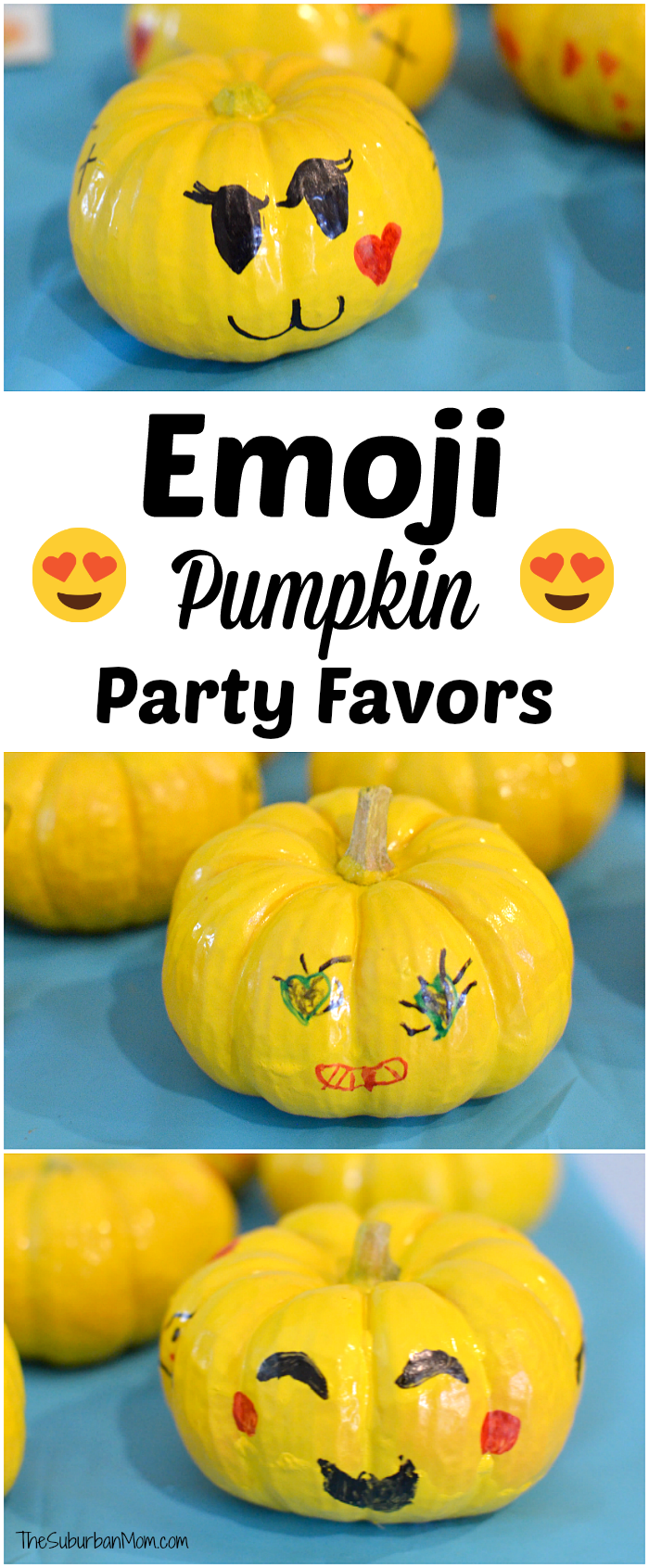 Emoji Pumpkin Party Favors