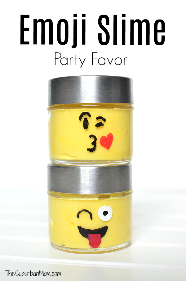 Emoji Slime Party Favor