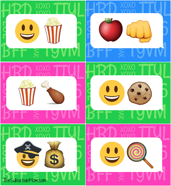 Emoji Table Tents