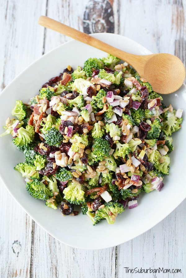 Cold Broccoli Salad With Bacon