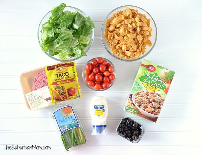 Beef Taco Salad Ingredients