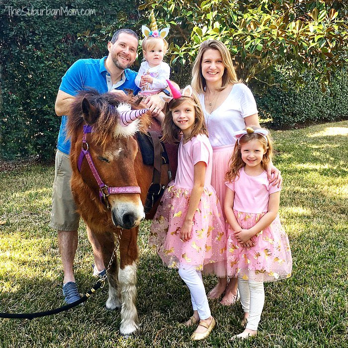 Unicorn Party Family Photo