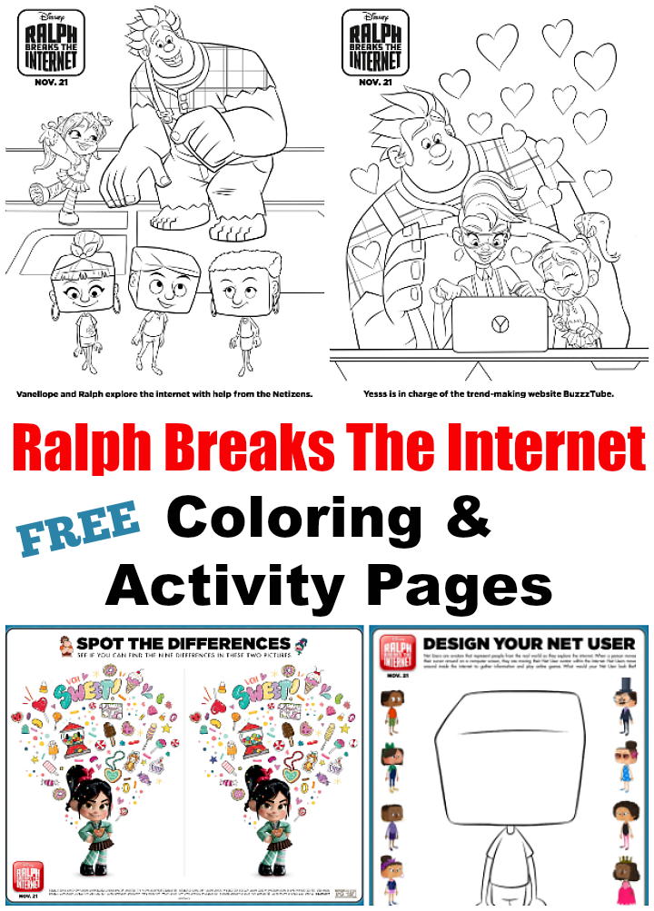 Ralph Breaks The Internet Coloring Pages