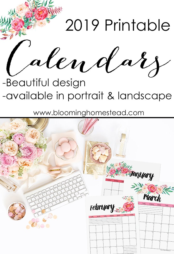 2019 Calendar Printables