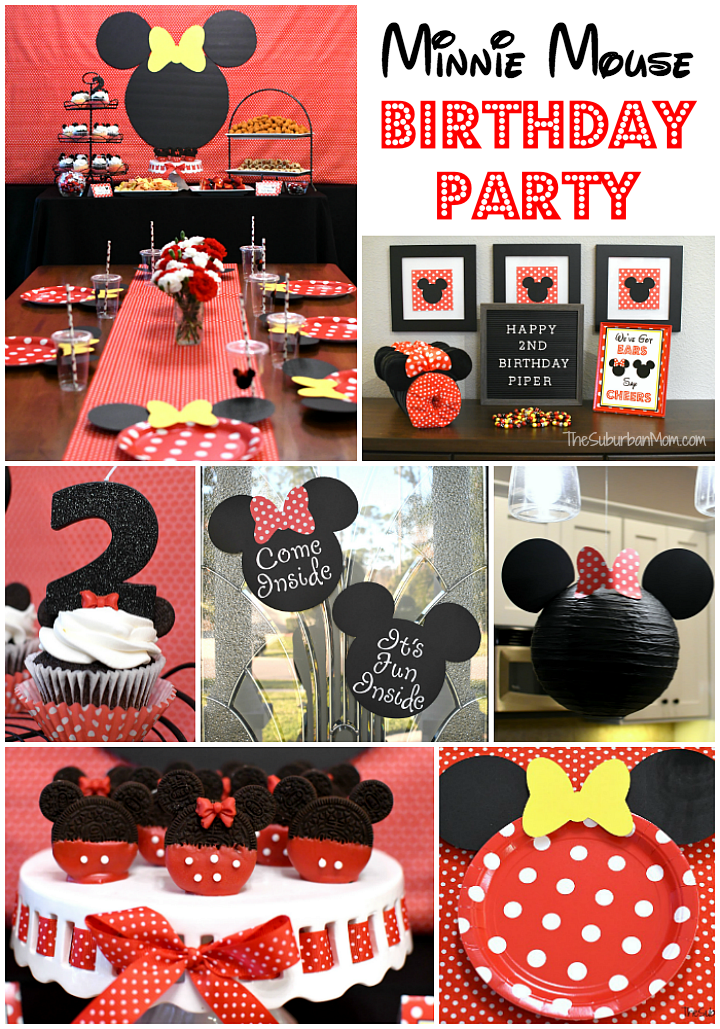Image of: Minnie Mouse Birthday Party Ideas The Suburban Mom