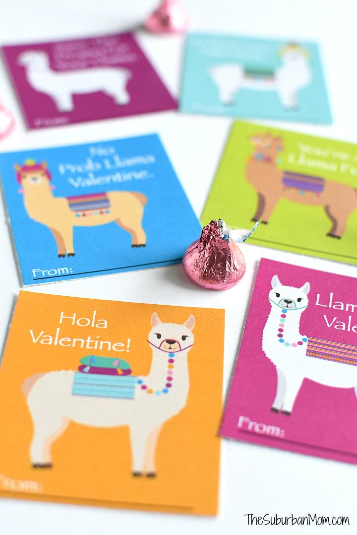 Printable Llama Valentines