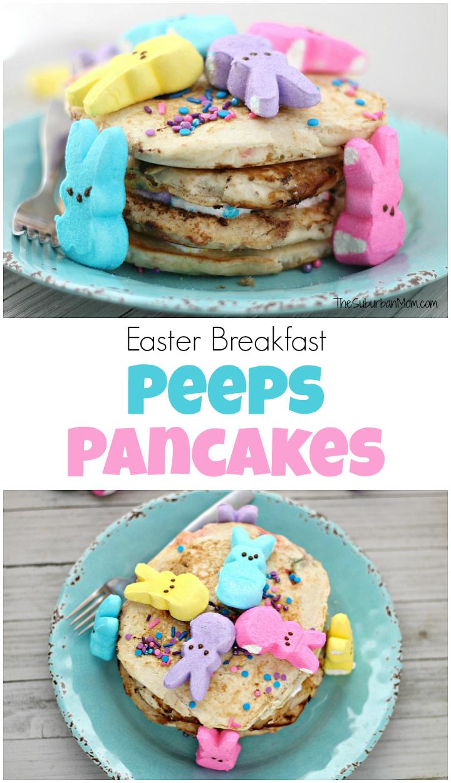 Easter Breakfast Peeps Pancakes