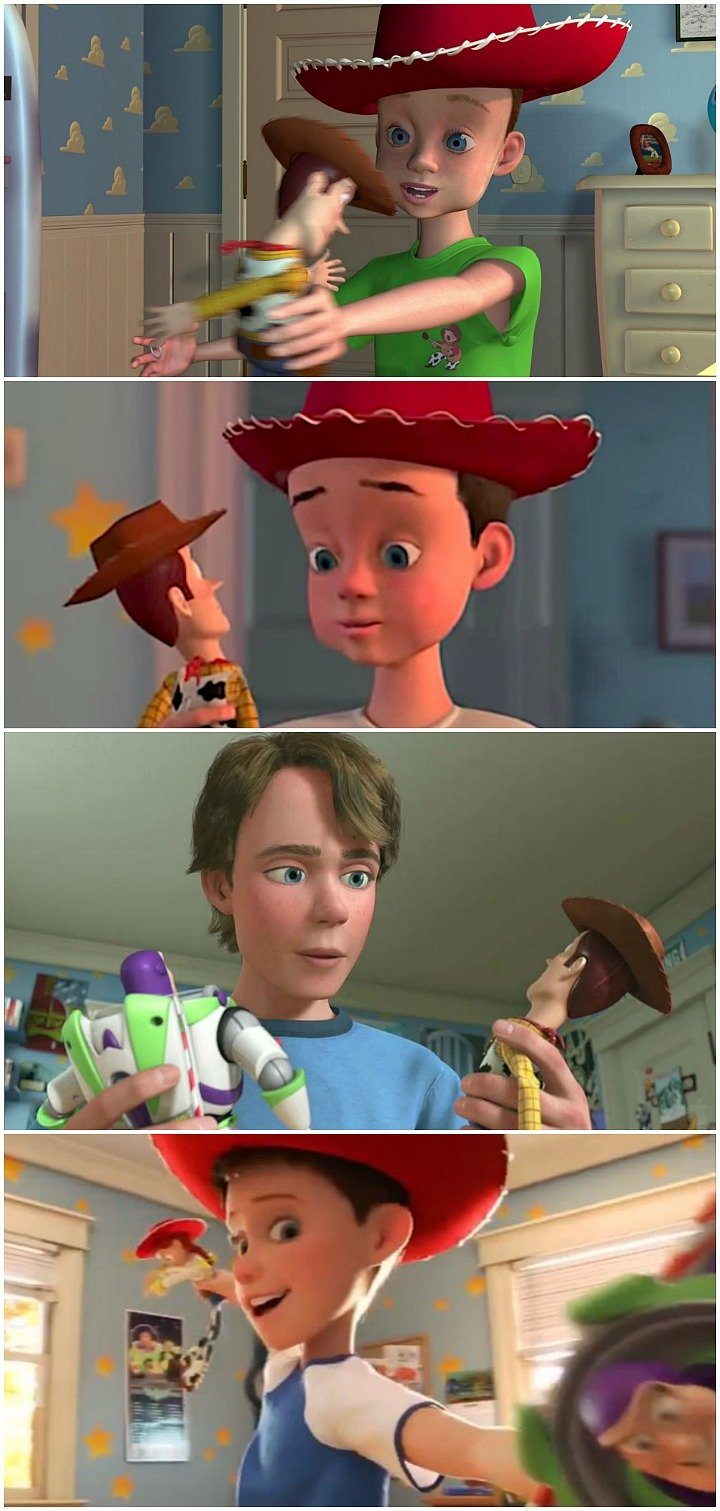 Andy Toy Story 1 - 4