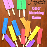 Popsicle Stick Popsicles Color Matching Game