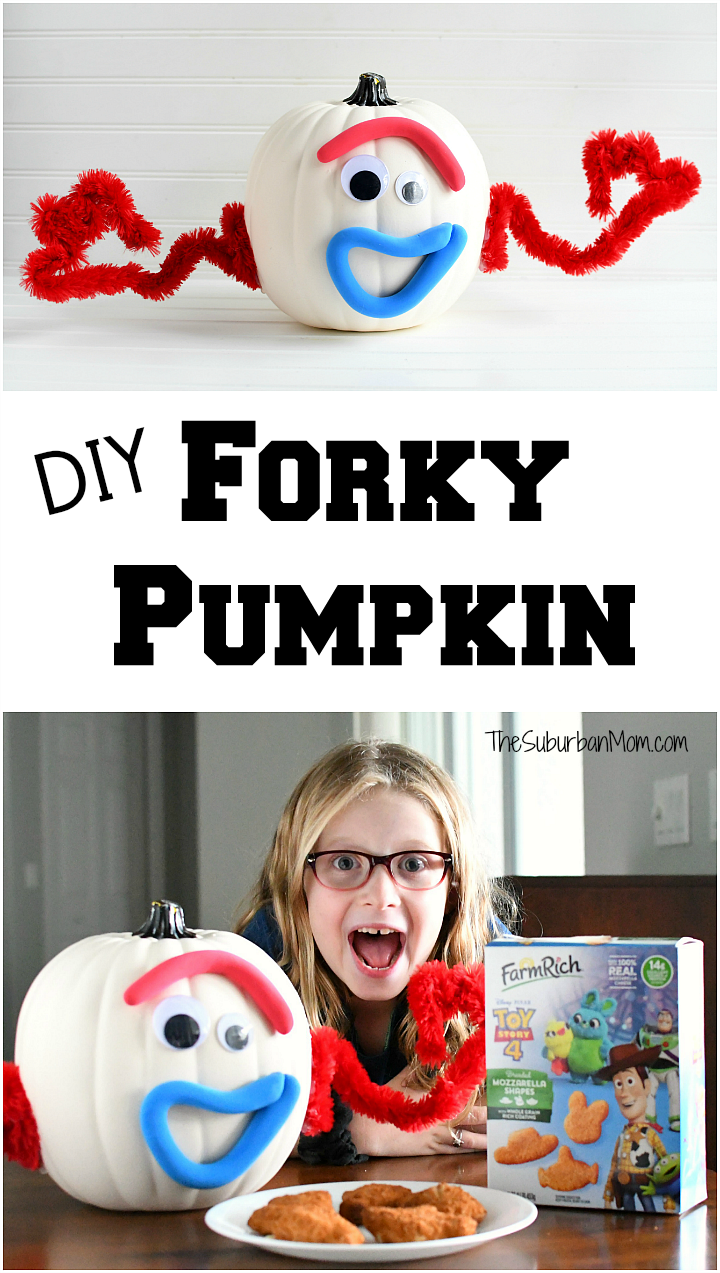 DIY Forky Pumpkin