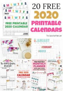 20 Free 2020 Printable Calendars