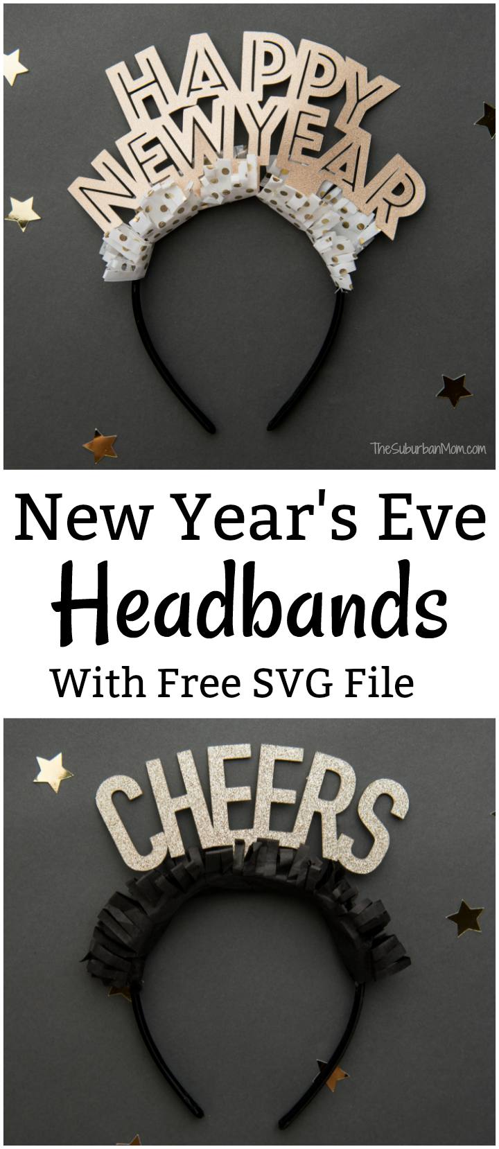 New Year's Eve Headbands Free SVG File