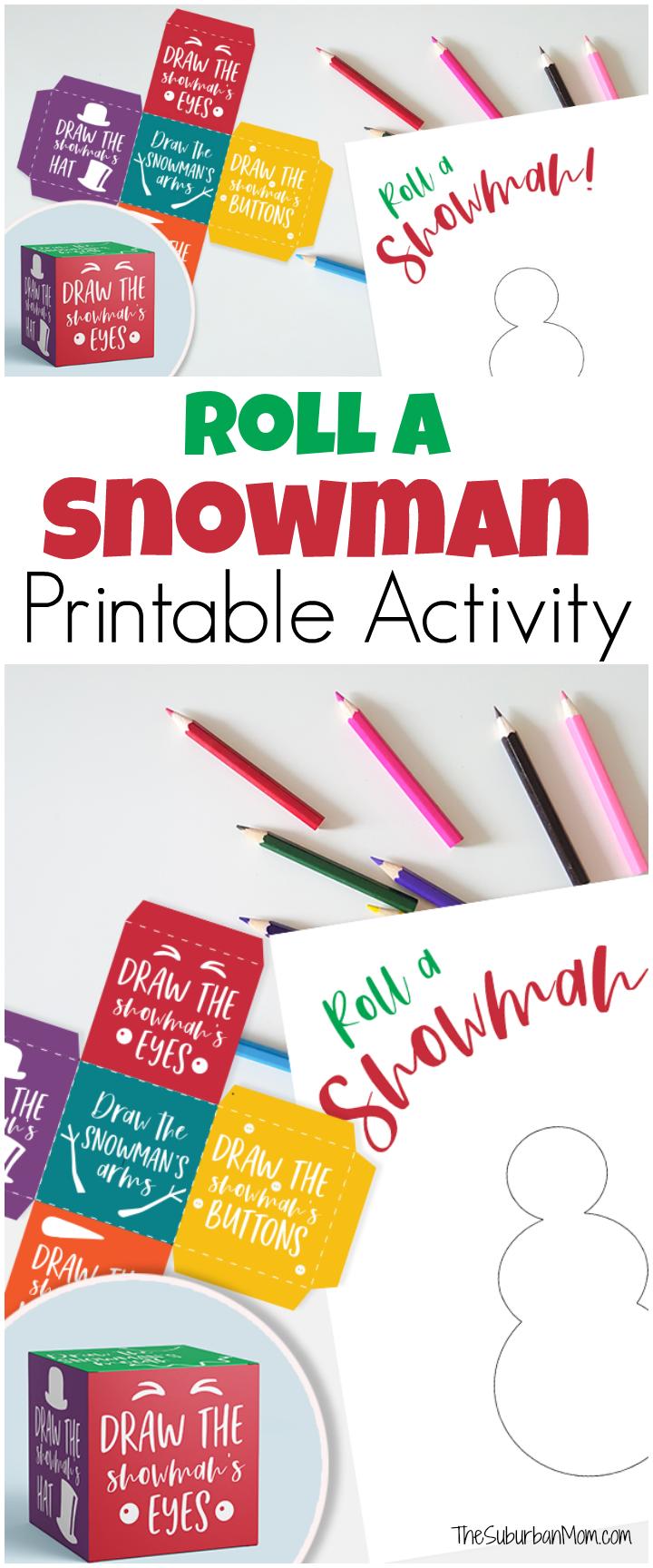 Roll A Snowman Printable Activity