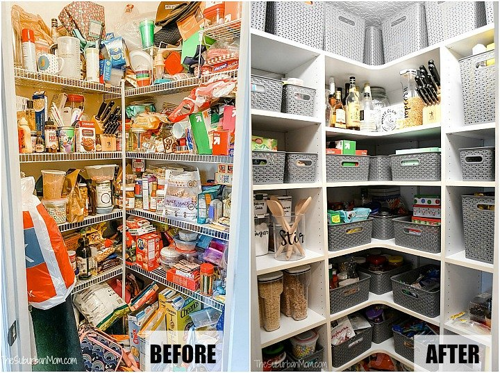 Before After Pantry Makeover Photos
