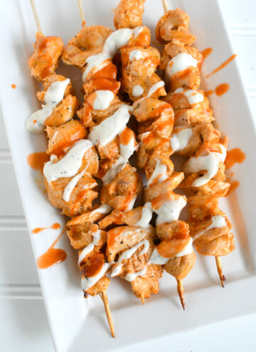 Buffalo Ranch Chicken Kabobs