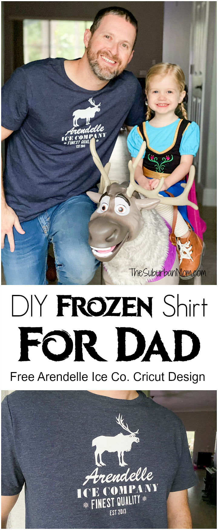 DIY Men's Frozen Shirt Dad