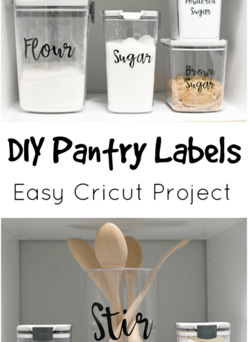 DIY Pantry Labels Cricut Project