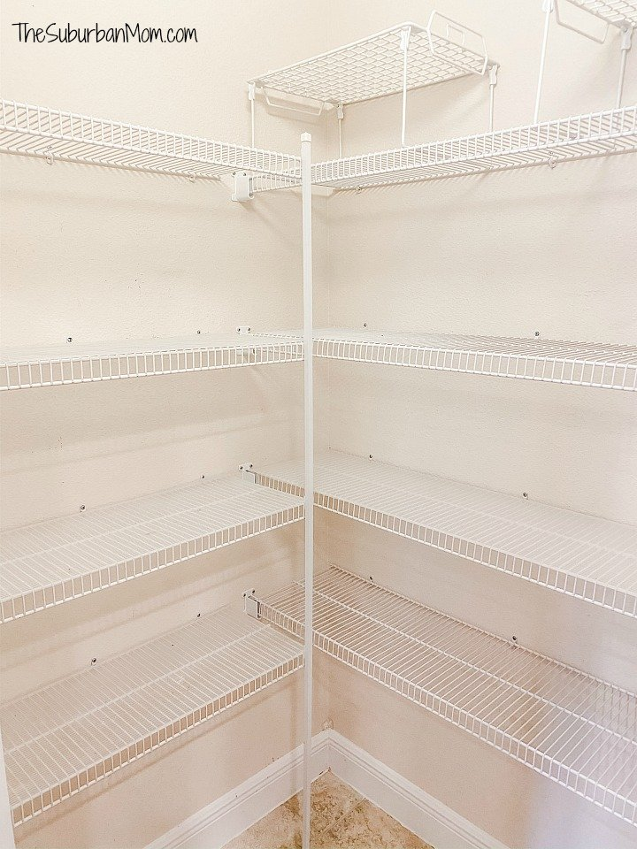 Empty Pantry Wire Shelves