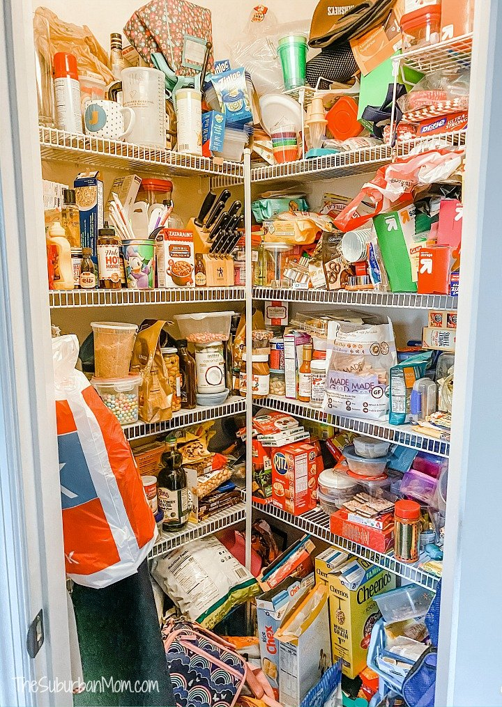 Pantry Organization Before Photo