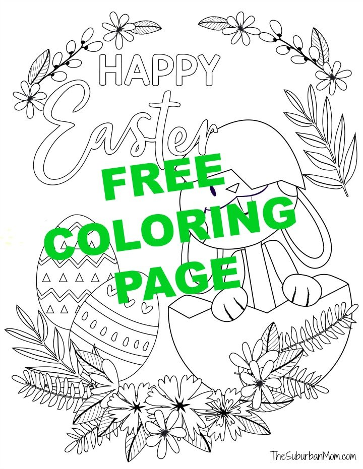- Free Printable Easter Bunny Coloring Pages Activity Page