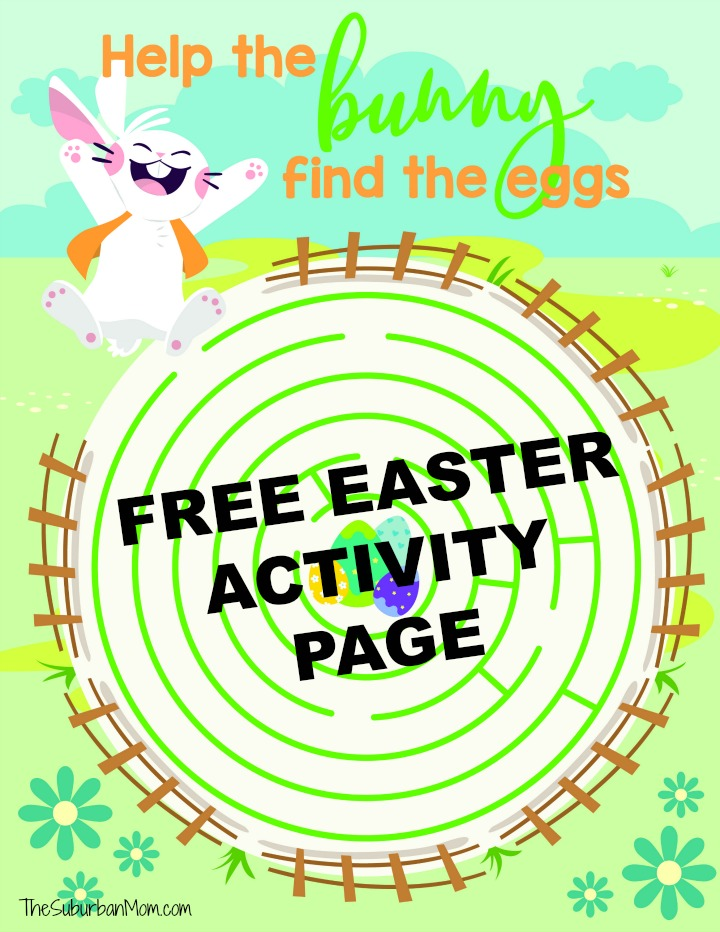 Free Easter Activity Page