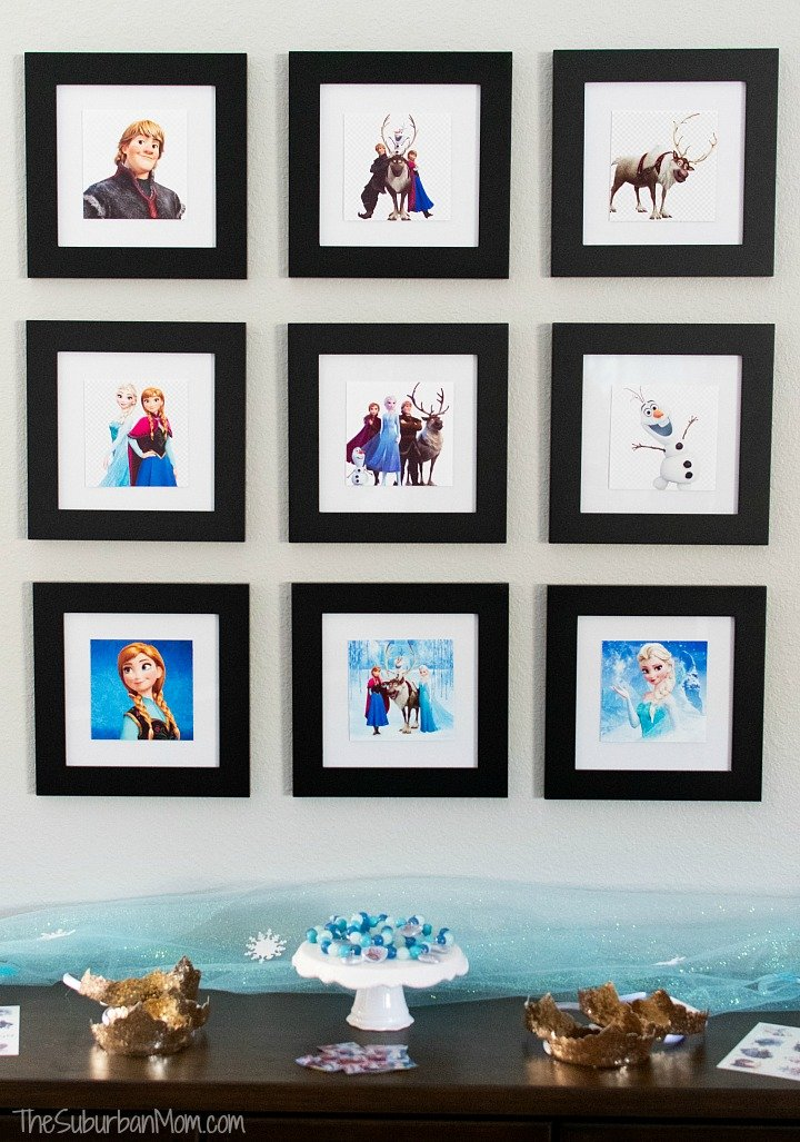 Frozen Photos Birthday Party Decoration