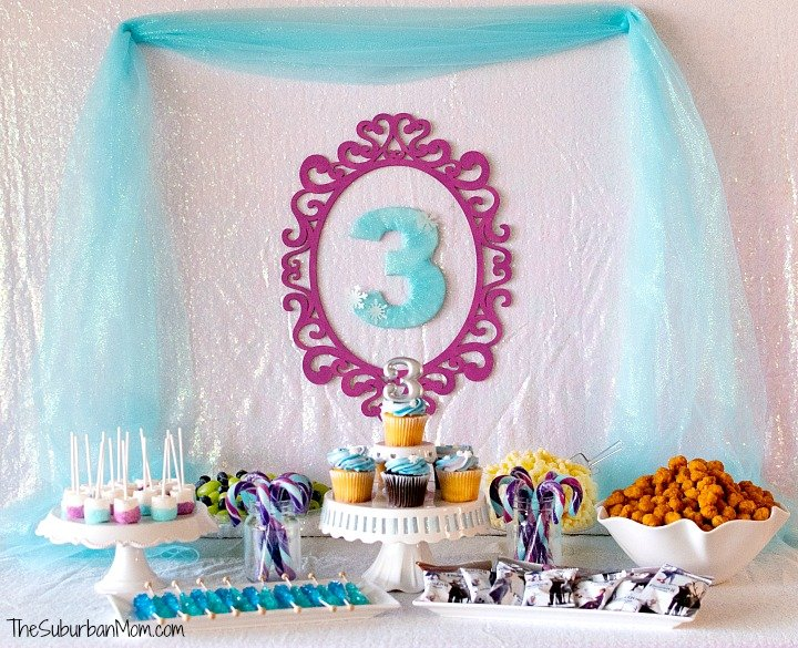 Purple and Blue Ice Princess Party