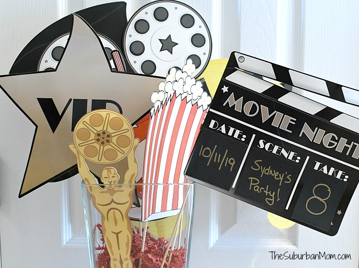 Movie Party Photo Booth Props