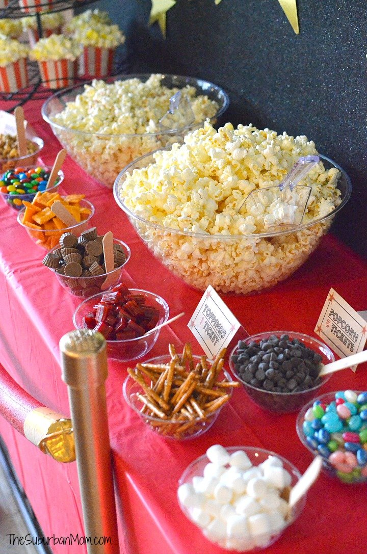 Movie Party Popcorn Bar