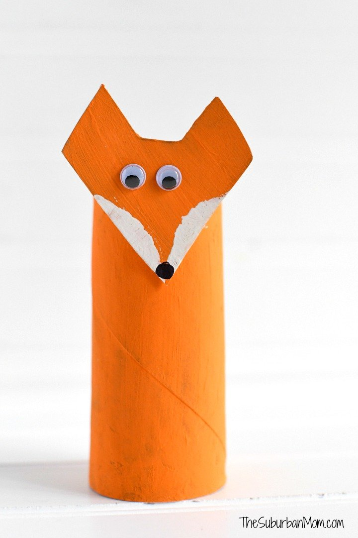 Fox Toilet Paper Roll Craft