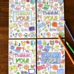Color A Teacher Thank You Card