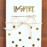 DIY Inspire Gold Foil Notebook