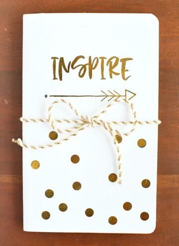 DIY Inspire Gold Foil Notebook