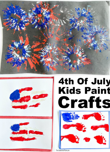 4th of July Kids Paint Crafts