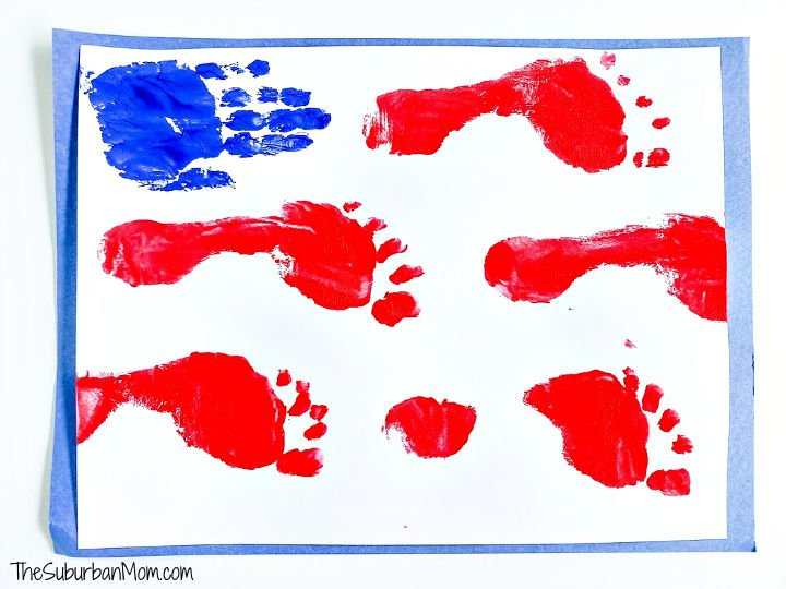 Kids Hand and Footprint Flag