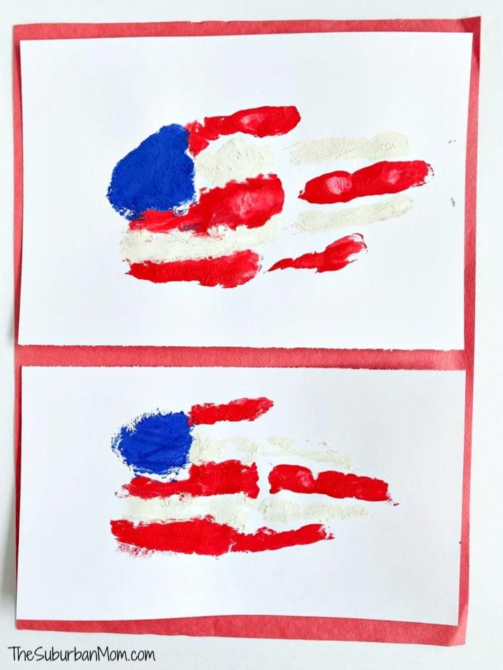 Kids Handprint Flag Craft