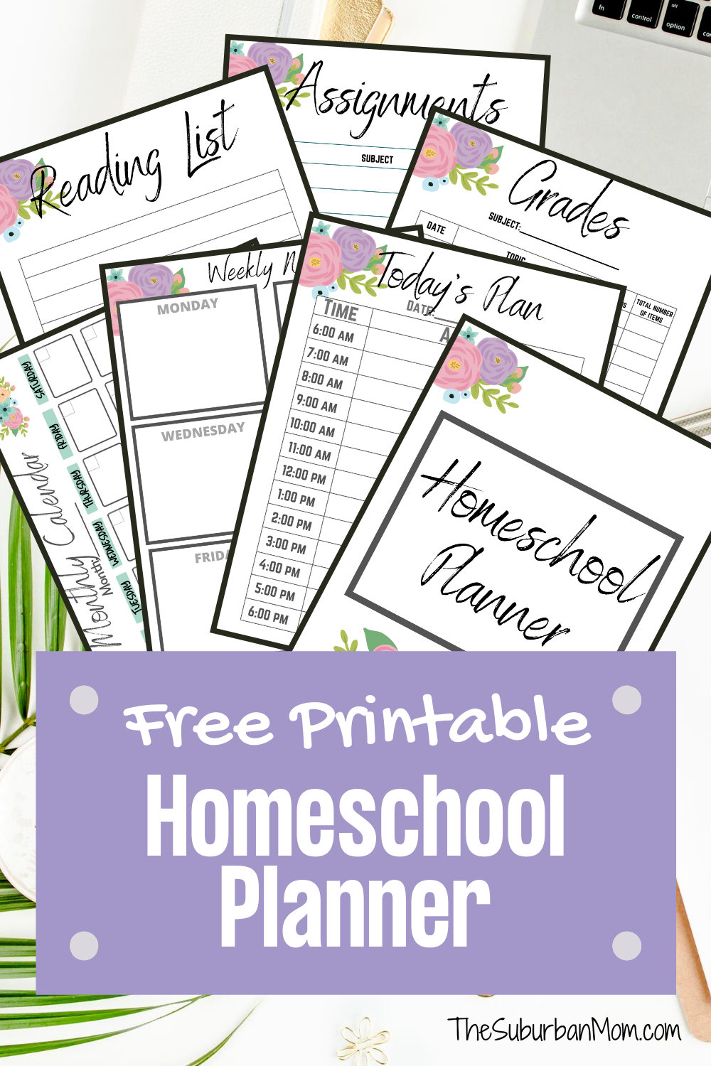9 Page Homeschool Planner