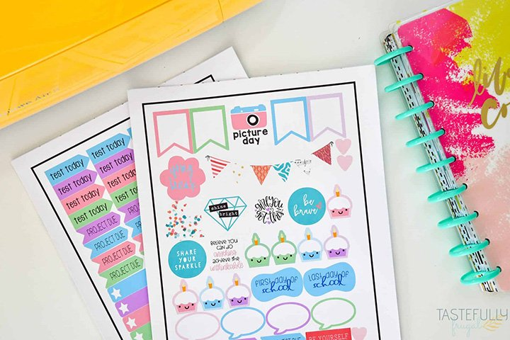 Cricut Planner-Stickers